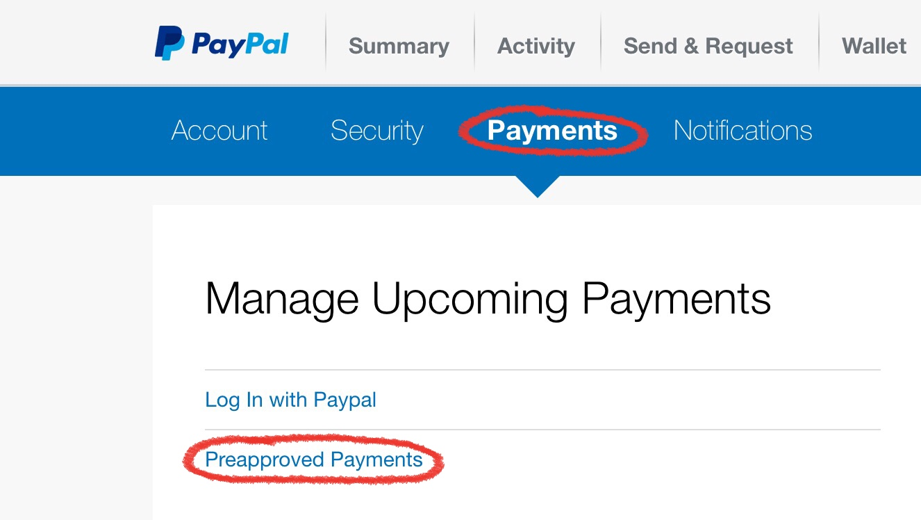 paypal.com how to cancel recurring payments
